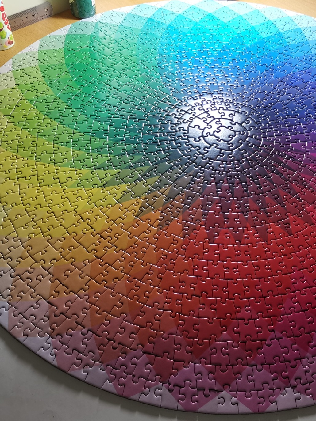 Lovers 1000 pieces of colorful rainbow hell puzzle Commemorative Building Block series for boys and girls