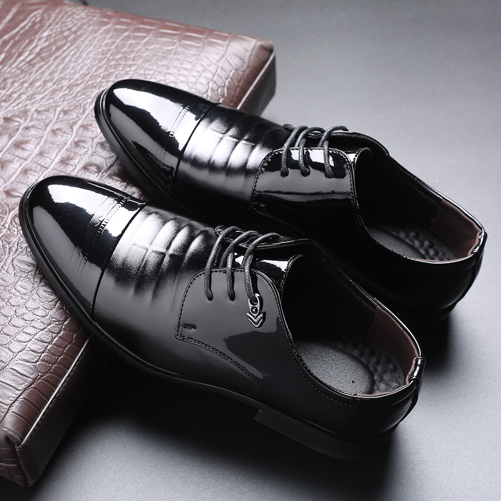 2020 new business mens formal wear single shoes large leather shoes front lace up mens shoes manufacturer wise popular