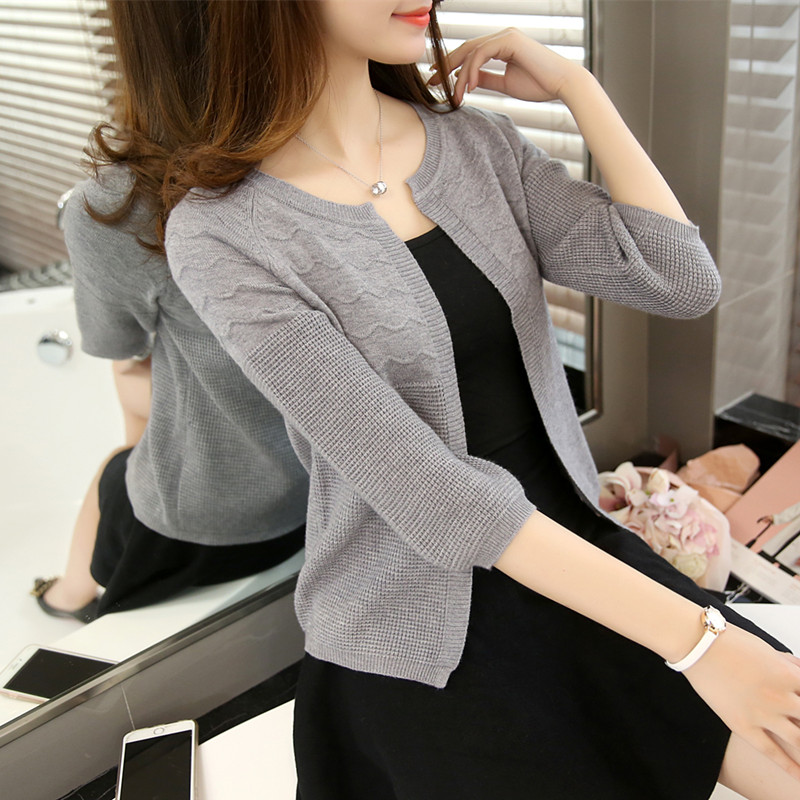 Autumn clothes 2020 new thin sweater cardigan for women to wear early autumn short sweater small coat spring and autumn coat