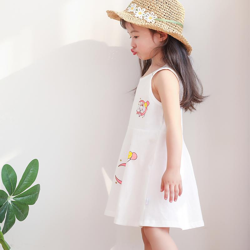 女童小宝宝全棉儿童夏季无袖连衣裙