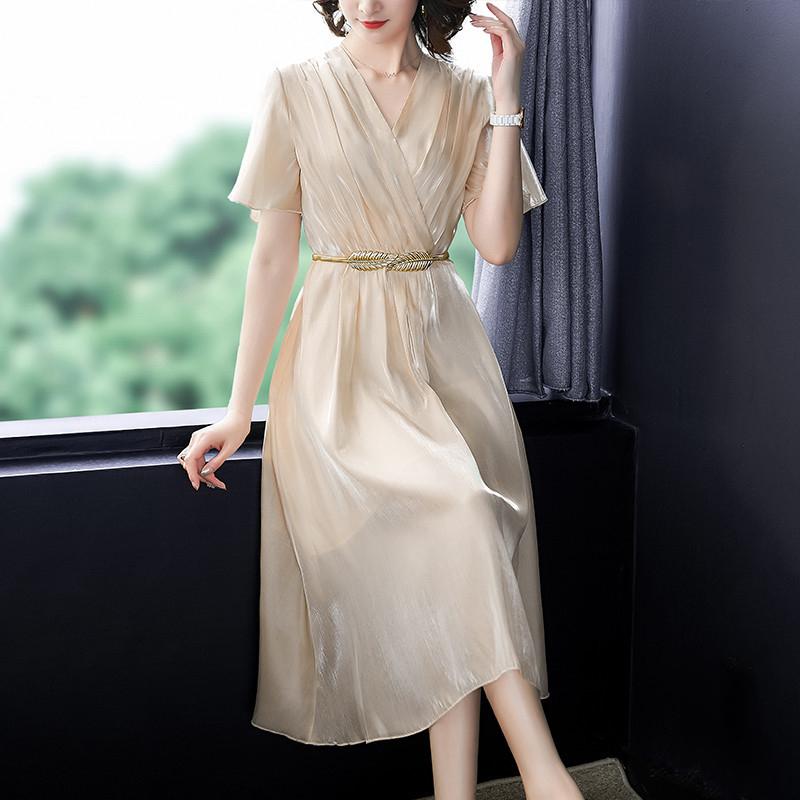 贵夫人连衣裙高端洋气阔太太高贵长裙显瘦显高收腰气质30一40夏款(用1元券)