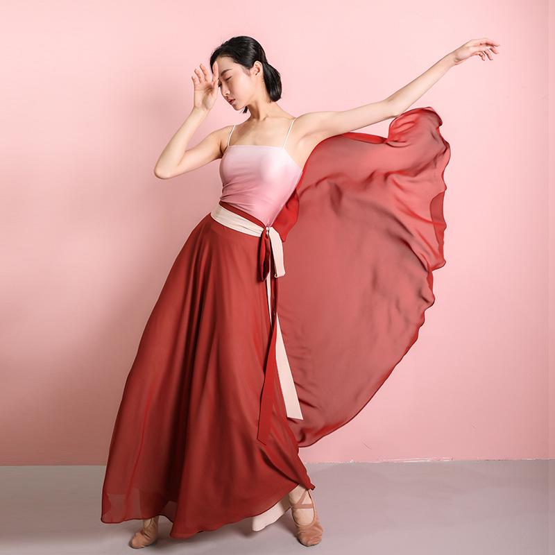 金剛舞古典舞長裙舞蹈民族舞舞蹈服藝考身韻紗衣飄逸練功服廣場舞