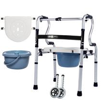 助行铝合金助行器残疾人拐杖老年人医疗器械带轮带坐垫按摩