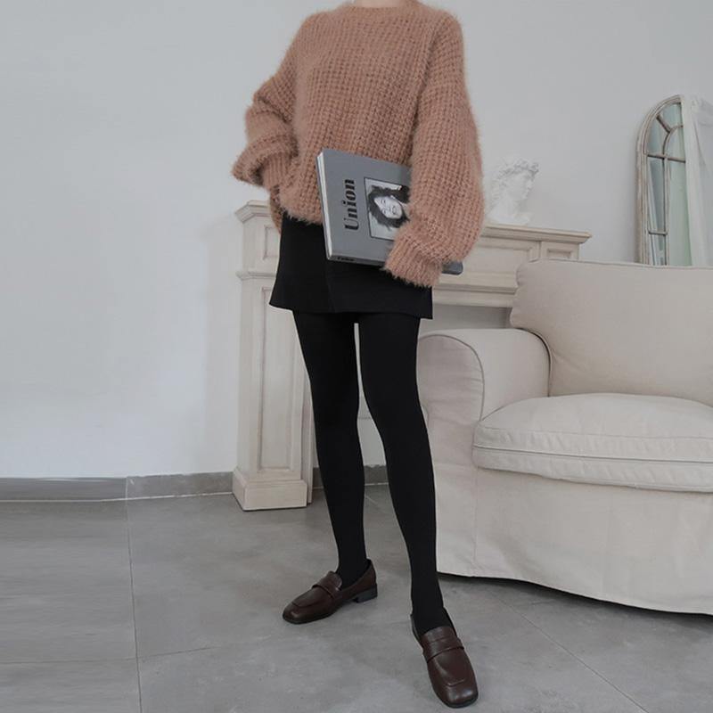 Fangwalker silk stockings womens spring and autumn style medium thick autumn women wear silk stockings velvet pantyhose stewardess grey silk stockings
