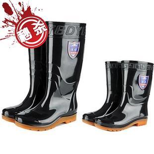 趕海專用鞋防滑中筒雨鞋男g短筒水鞋水靴女高筒廚房工作鞋防水套