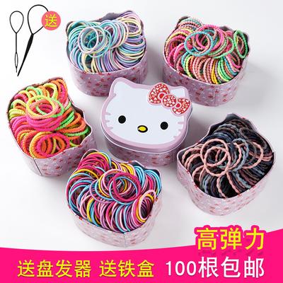 儿童皮筋发绳不伤发头绳韩国宝宝彩色小号发圈女童扎头发橡皮筋女