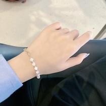 简约创意不对称透明圆珠手链唯美小众设计气质手镯闺蜜手饰女1819