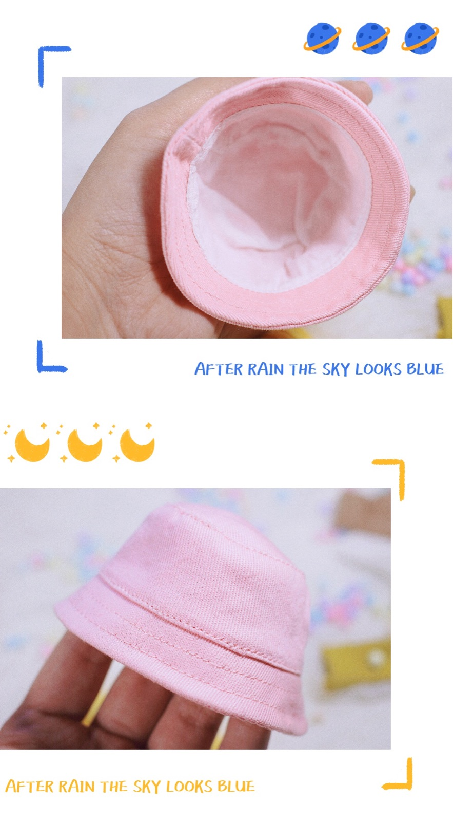 11.11 new product 68 package post spot BJD doll 6 points baby clothes accessories props fisherman hat hat versatile daily