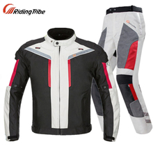 Cycling suit men's motorcycle suit winter waterproof, fall proof, cold proof, warm and rainproof motorcycle suit four seasons racing clothes