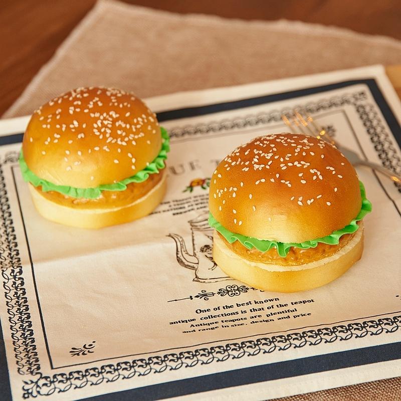 仿真食物汉堡包巨无霸面包食品模型道具店铺样板摆件装饰幼儿玩具