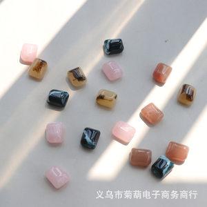首饰diy材料 高端不规则珠子耳环耳饰独特项链配件直通孔材料挂件
