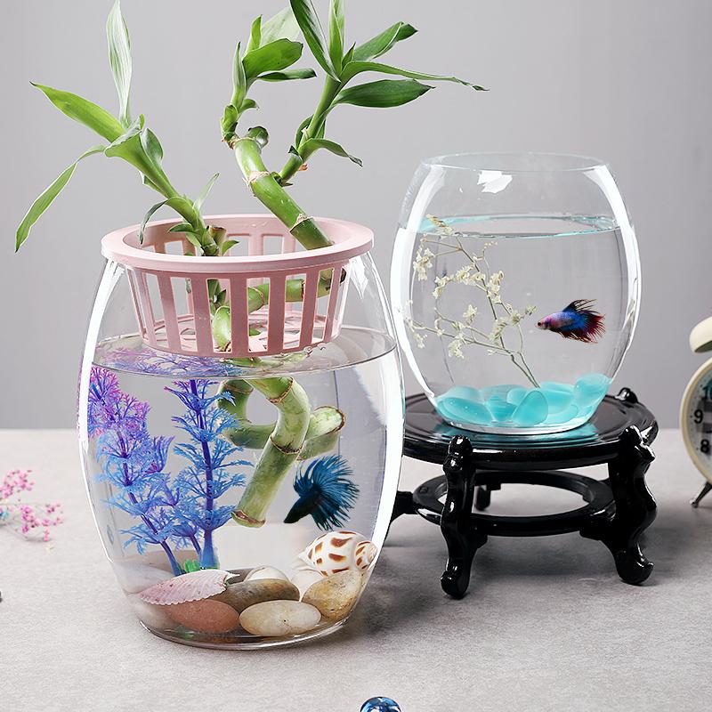 水培植物玻璃瓶透明玻璃花瓶容器绿萝花盆圆球形鱼缸水养小号器皿