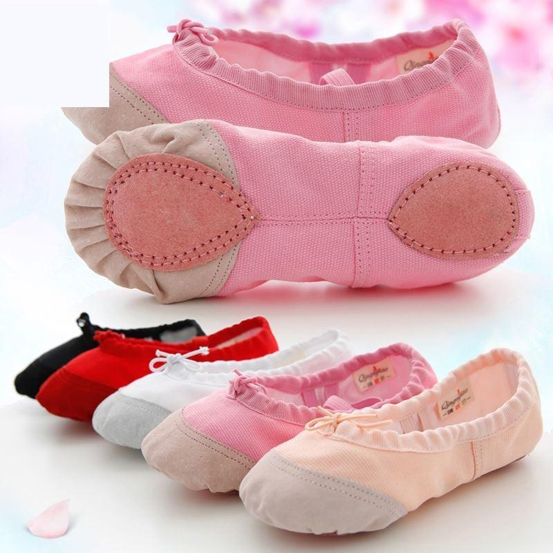 儿童舞蹈鞋女软底练功鞋肉色古典舞鞋中国民族芭蕾防滑形体跳舞鞋