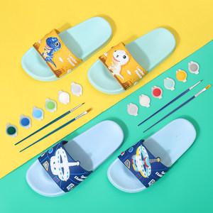 2020新款夏季儿童美术绘画卡通男女童室内室外浴室宝宝防滑凉拖鞋