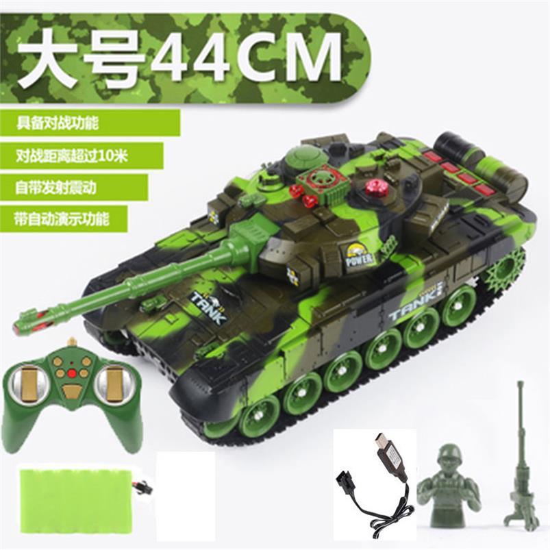 リモートコントロールt 90タンクのおもちゃのキャタピラー式の充電式トラモデルの車の子供の男の子の超大型戦車の車