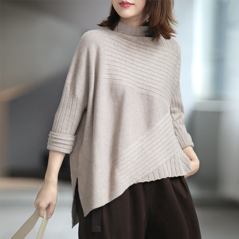 Xiaoshuo elegant casual tailoring half high collar sweater sweater thick bottomed sweater new autumn / winter 2020