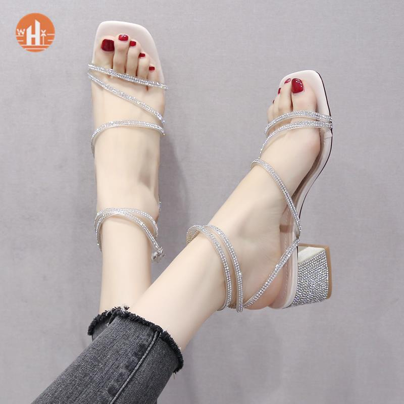 Sandals female summer college student net red super fire 2021 new fairy wind work female Earth gentle with sweet good-looking
