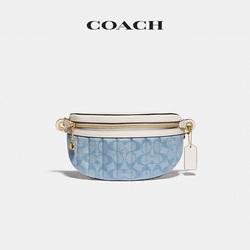 COACH蔻驰 经典标志绗缝Chambray链条腰包