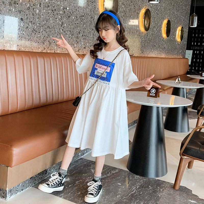 女童夏装连衣裙2021新款中大童网红洋气女孩公主裙夏季儿童装裙子