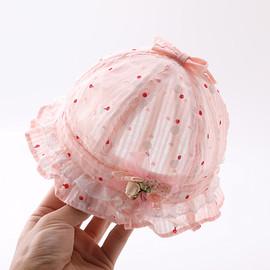 婴儿帽子夏季薄款新生儿女宝宝遮阳帽公主可爱夏天防晒幼儿渔夫帽