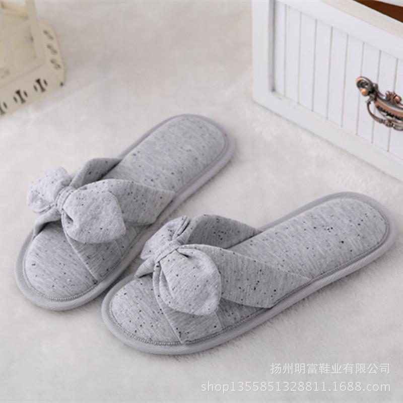 防滑女拖鞋拖鞋可爱淑春夏款露趾家居拖鞋蝴蝶结