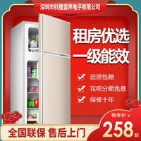 一级节能省电小型电冰箱家用宿舍租房迷你单人二人用双门冷冻冷藏