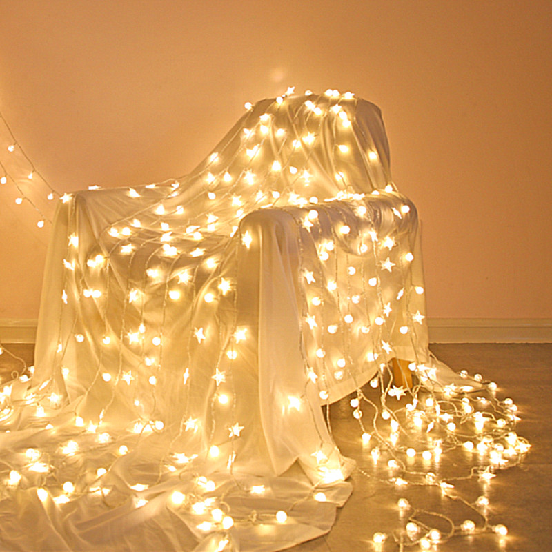 星星灯串灯饰网红房间卧室布置装饰灯圣诞节小彩灯闪灯串灯满天星