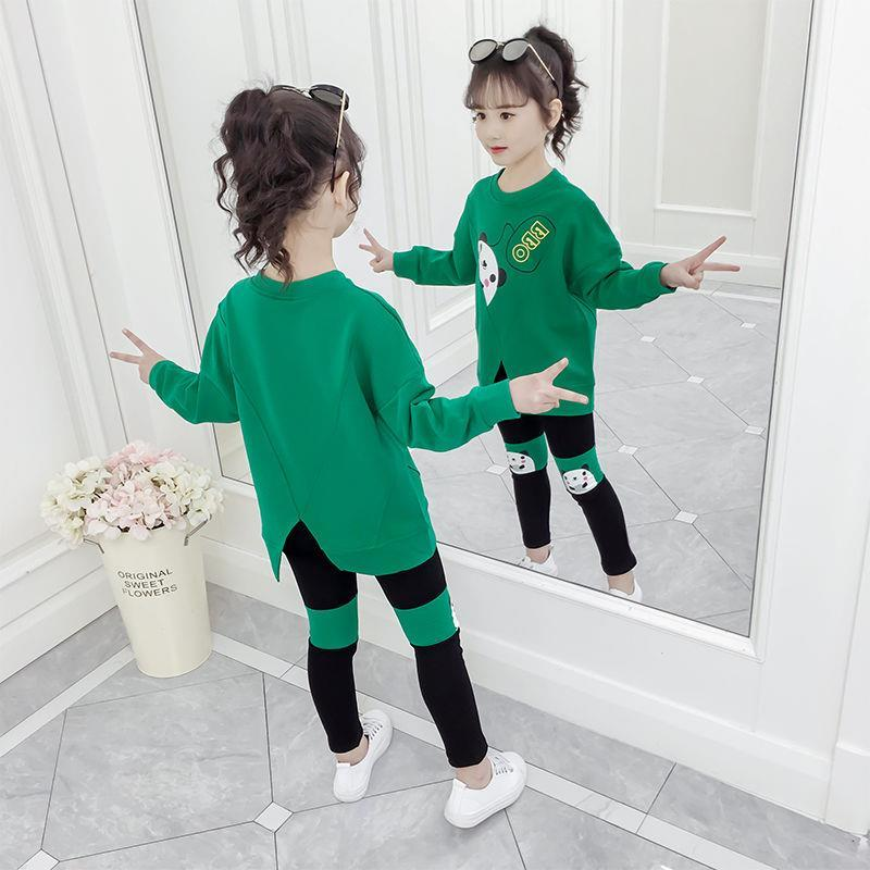 女童春秋款2020新款套装洋气网红儿童装休闲两件套春秋小女孩衣服