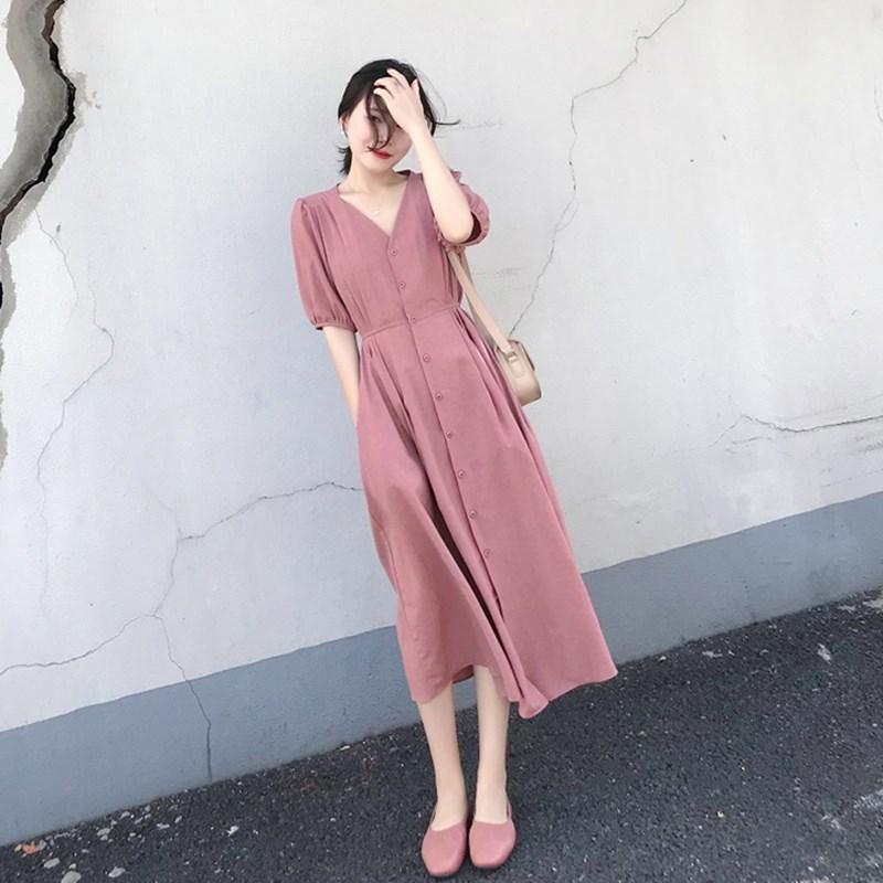 成熟女装潮裙子2019年初秋新款长裙显瘦显高气质衣服女神范到脚踝