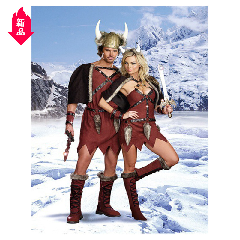 Halloween Costume lovers pirate ox demon king mens and womens suits warrior costume Viking costume show costume Q01
