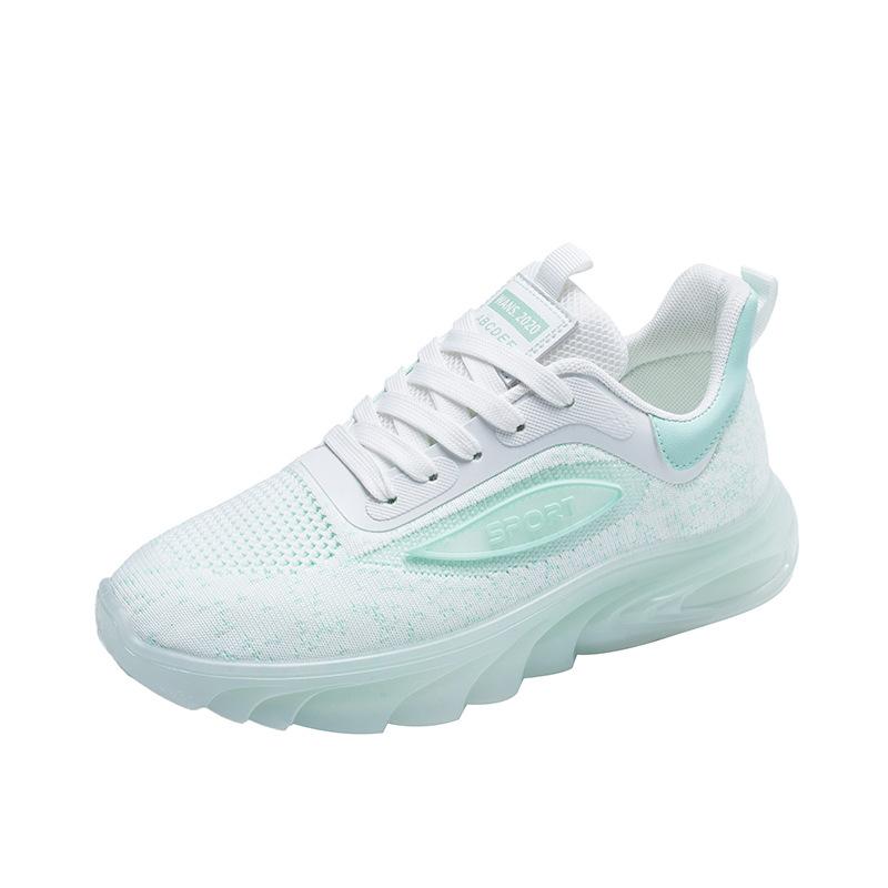 女鞋夜光飞织运动鞋女2021新款韩版跑步板鞋女ins透气飞织休闲鞋