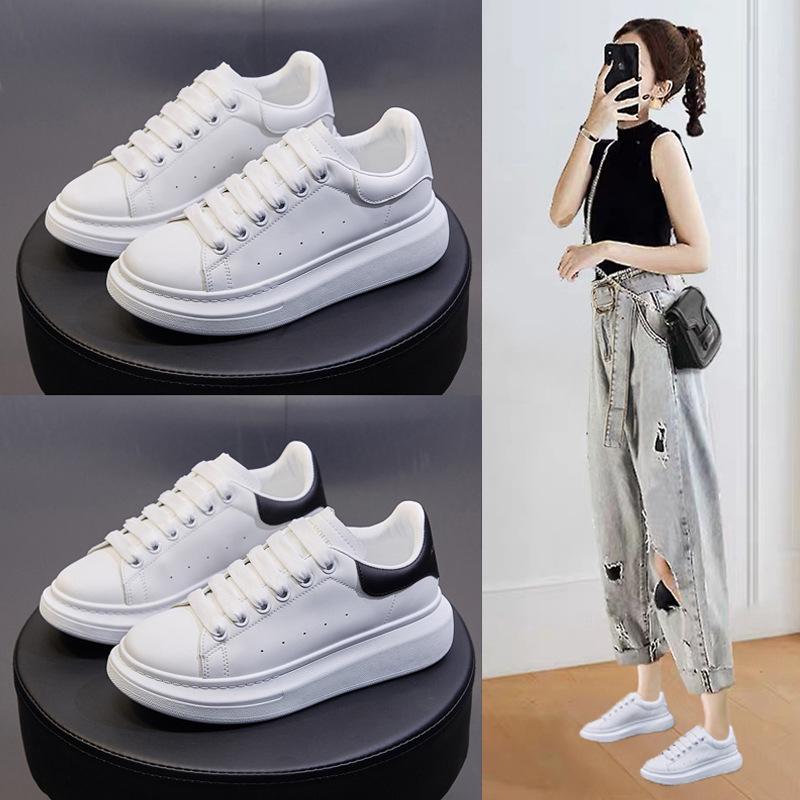 ins情侣小白鞋2021款麦昆达男女休闲透气板鞋韩版潮流厚底增高鞋