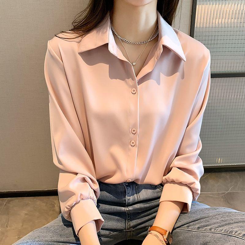 雪纺衫春季2021新款显瘦韩版打底衫