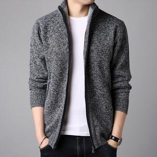 純色立領開衫 毛衣夾克 男士 梵客隆男裝 新款 外套 秋冬季 休閑針織衫