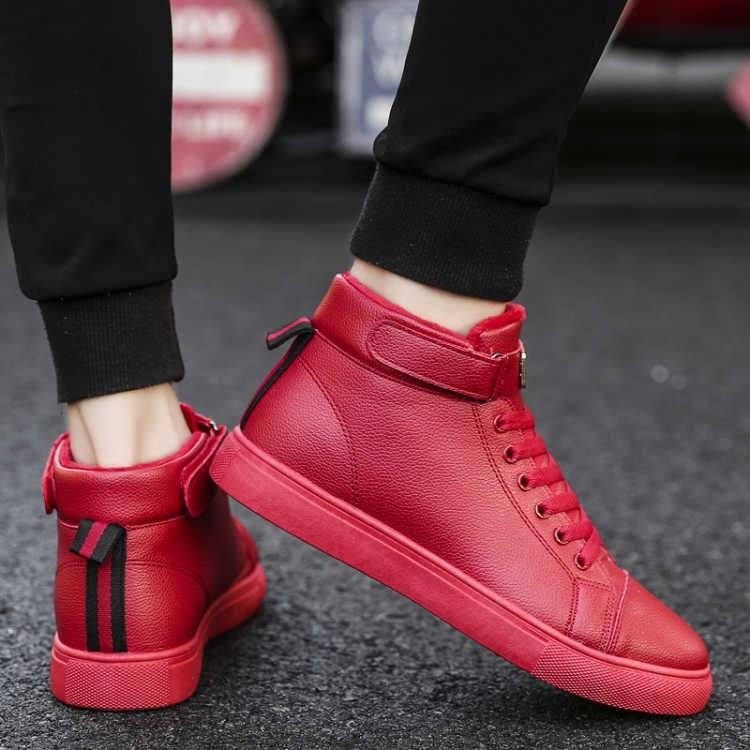 轻便软底流行新款男鞋高帮潮流男户外个性舒适时尚2019平底青年