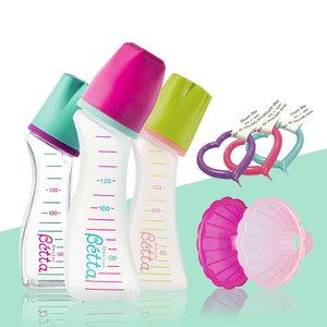 原装进口Betta贝塔小口径奶瓶配件替换盖保温袋花型奶粉漏斗清仓