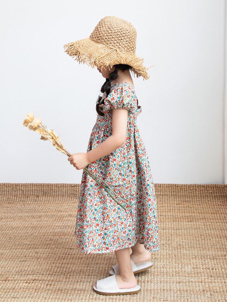 女童连衣裙夏2020夏装新款韩版碎花短袖洋气小女孩纯棉儿童裙子