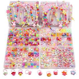 儿童手工串珠玩具diy手工制作材料女童手链穿珠子小女孩益智玩具