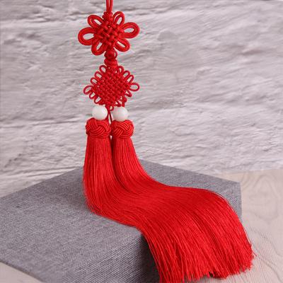 亮光冰丝中国结菠萝帽双流苏挂坠汽车挂件乐器剑穗工艺定型结穗子