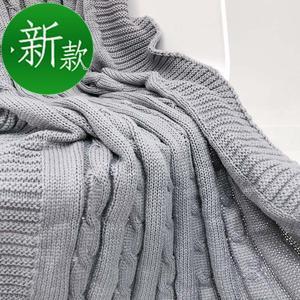 麻花毯粗毛線針織毯子休閑毯沙發毯蓋毯辦公室o午睡毯夏季空調毛
