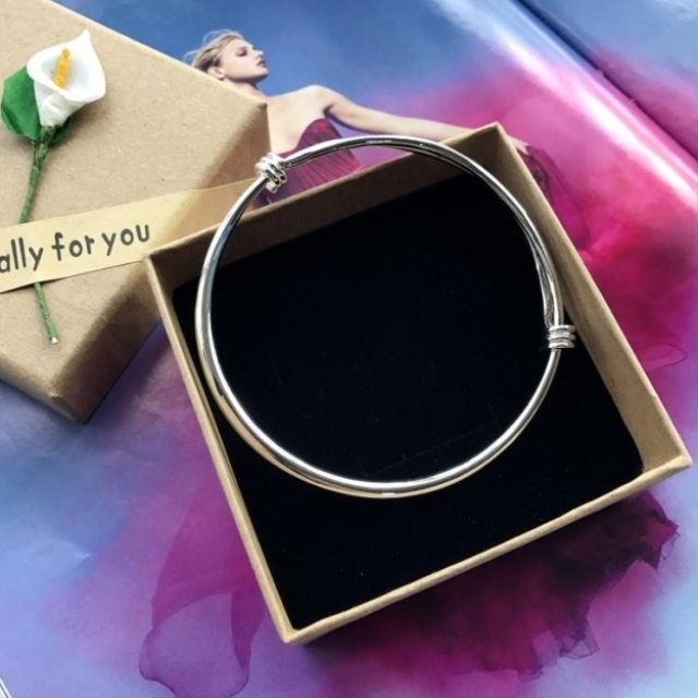 New Korean Bracelet Silver Fashion Anklet girls smooth face simple versatile temperament foot ring TH10