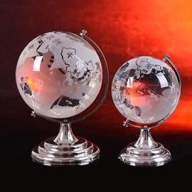 包邮地球仪大小号水晶送同学老师办公书桌商务摆件送男生长辈礼物图片