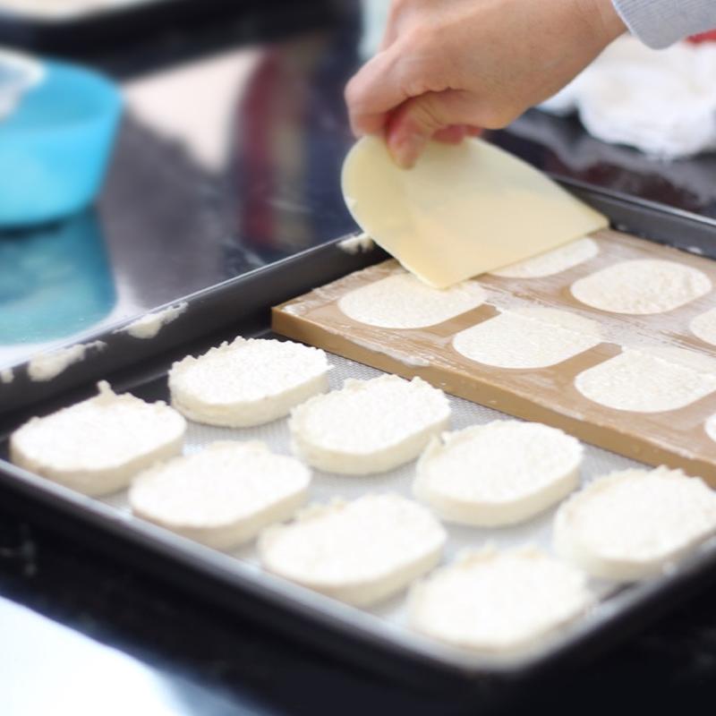 达克瓦兹模具亚克力透明爱心圆形椭圆法式小饼干手工diy烘焙模具