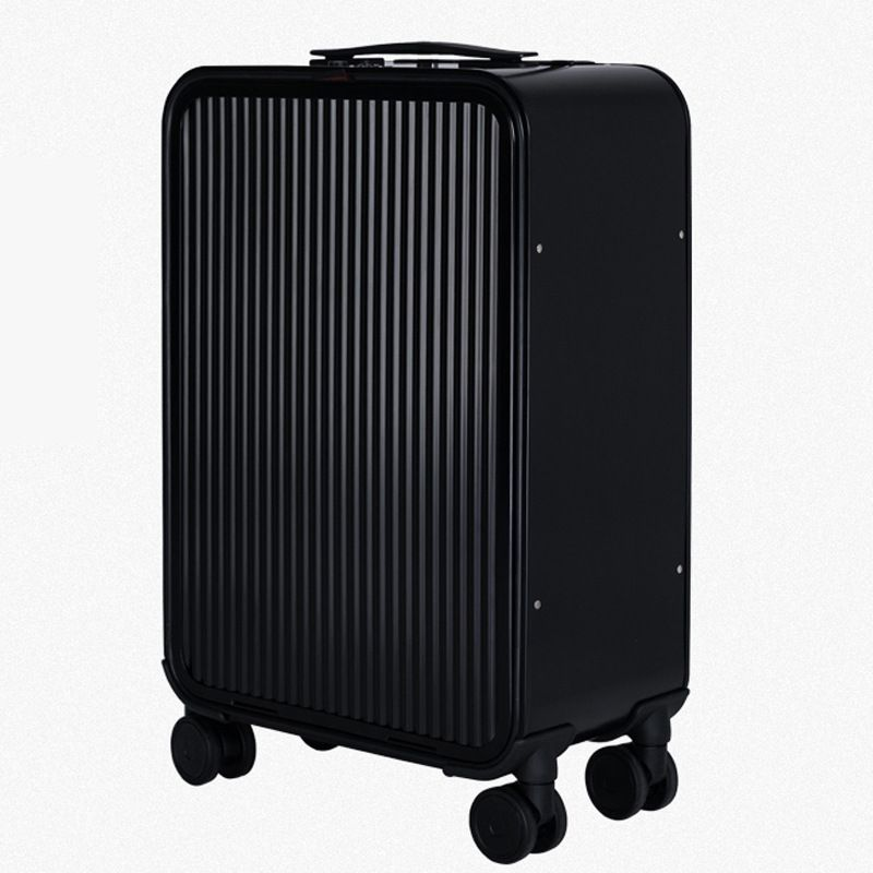 All aluminum magnesium alloy trolley case custom side open business front open cover metal suitcase boarding case luggage compartment