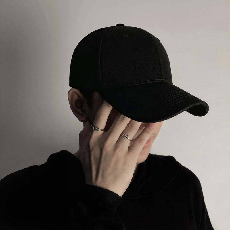 帽子男韩版潮春秋遮阳帽夏季防晒日系棒球帽女黑色鸭舌帽 ins潮牌