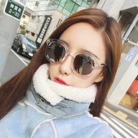 韩版圆框炫彩放光太阳镜9711 新款箭头透明彩膜墨镜太阳眼镜图片