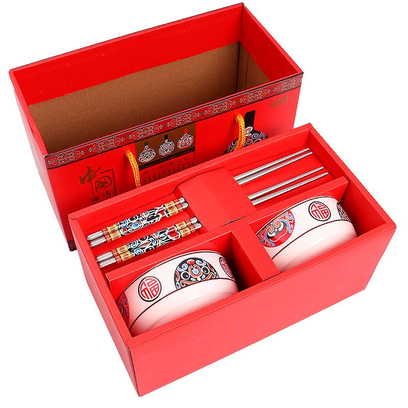 韩国京剧脸谱马勺餐具礼品中国风礼物套装送外国人实用特色出国礼