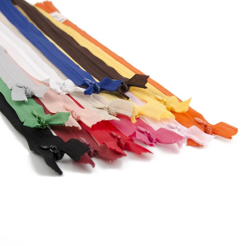 隐形拉链40厘米长拉链带拉链头 蕾丝边 侧拉链暗拉链配件辅料