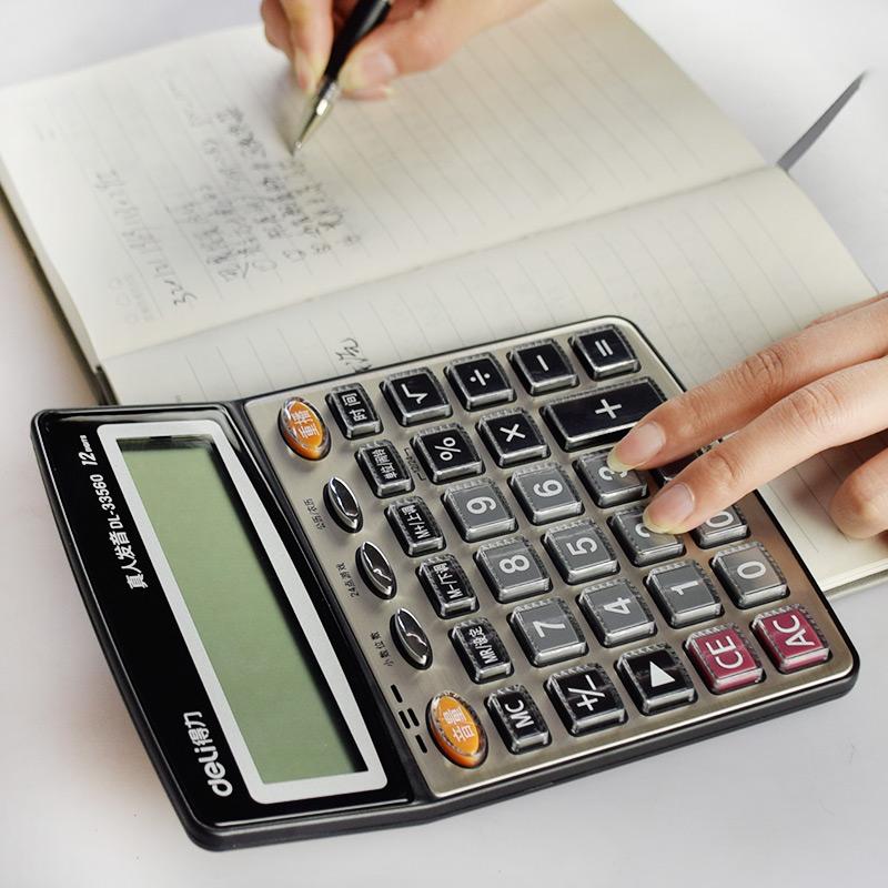 Large digital office stationery calculator