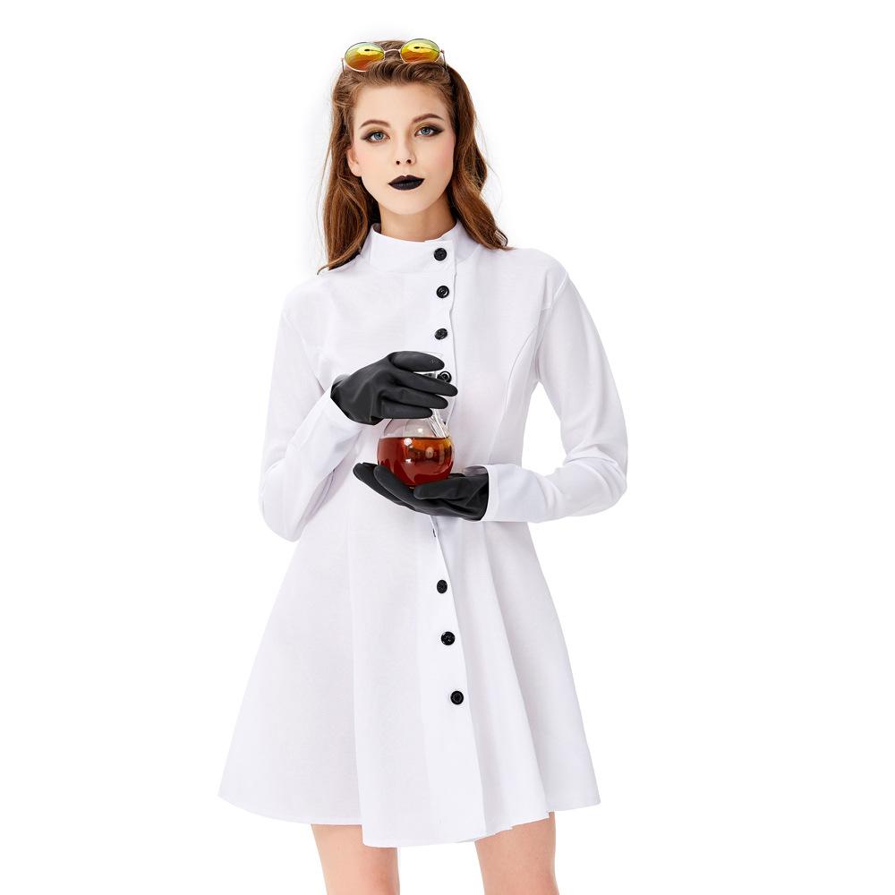 Halloween crazy scientist costume male same white coat doctor nurse role play costume female